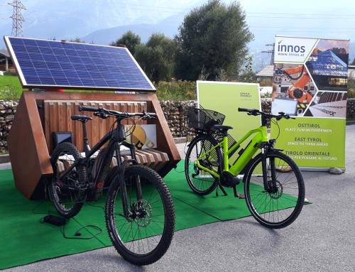 Autarke E-Bike Ladestation