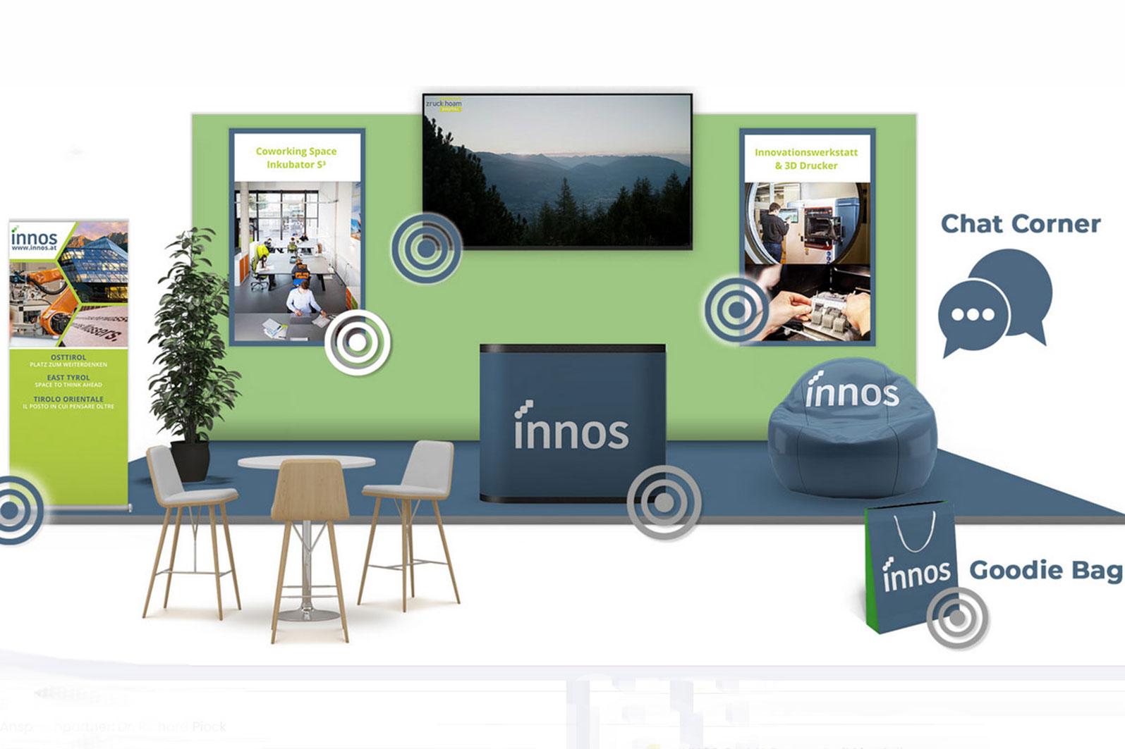 ZRUCK HOAM Digitale Jobmesse Messestand INNOS GmbH